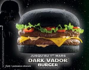 Le Dark Vador burger, le hamburger qui fait peur