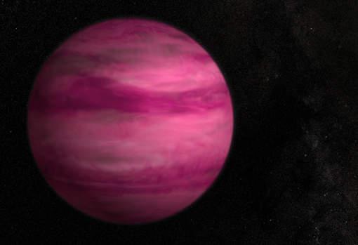 Une nouvelle planète rose « fleur de cerisier foncée »