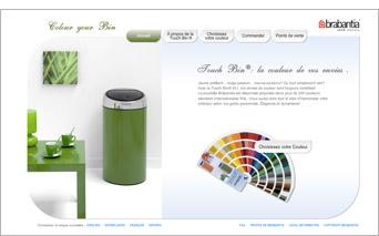 Une poubelle de cuisine de la couleur de vos envies