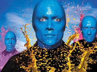Blue Man Group, le bleu comme inspiration