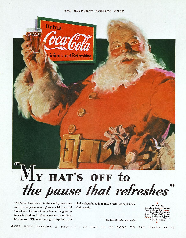 Aux origines de la couleur du rouge Père Noël