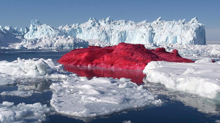 Le Mont-Blanc échappe à une coloration rouge framboise