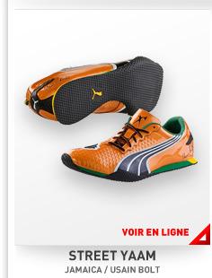 Les chaussures orange de l'homme le plus rapide du monde