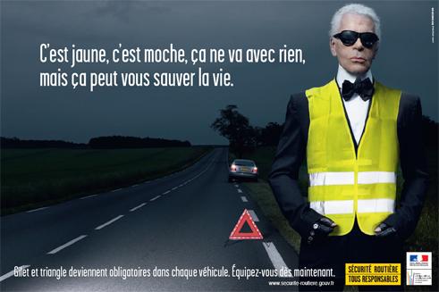Le jaune gagnant grâce à l'humour décalé de Karl Lagerfeld